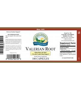Valerian Root (100 Caps) label