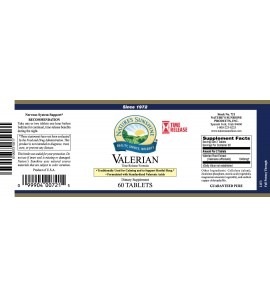 Valerian Root Extract T/R (60 Tabs) label