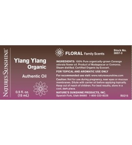 Ylang Ylang, Organic Essential Oil (15 ml)