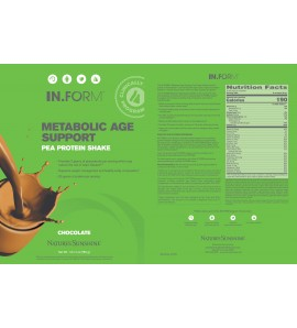 IN.FORM Metabolic Age Support Pea Protein Shake Chocolate (765 g) label