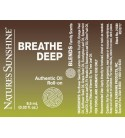 BREATHE DEEP Blend Roll-On (10 ml) label