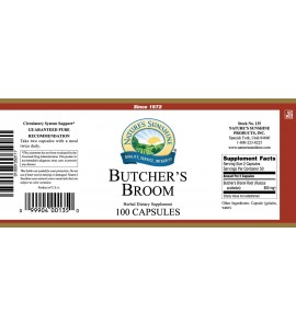 Butcher's Broom (100 Caps) label