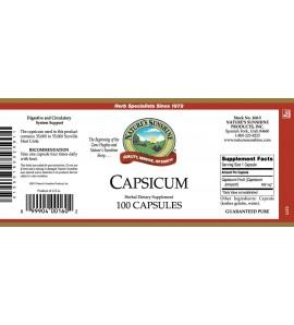 Capsicum (100 Caps) label