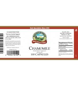 Chamomile (100 Caps) label