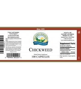 Chickweed (100 Caps) label