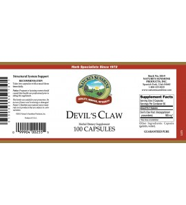 Devil's Claw (100 Caps) label