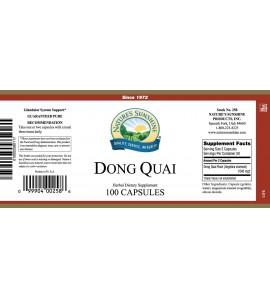 Dong Quai (100 Caps) label