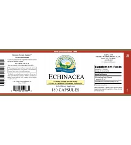 Echinacea Purpurea (180 Caps) label