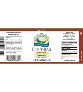 Eleuthero (100 Caps) label