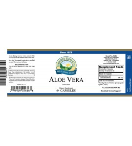 Aloe Vera-Freeze Dried (64 Caps) label