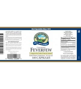 Feverfew Conc. (100 Caps) label