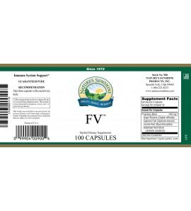 FV (100 Caps) label