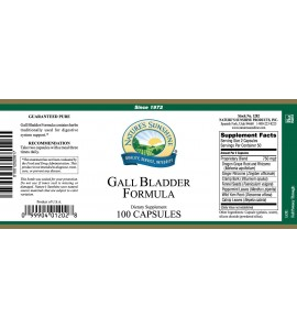 Gall Bladder Formula (100 Caps) label