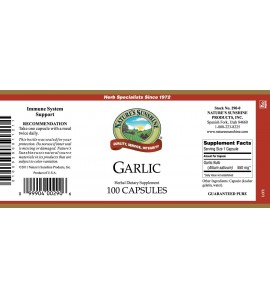 Garlic (100 Caps) label