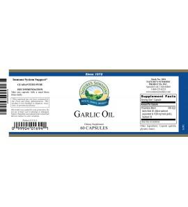 Garlic Oil (60 Softgel Caps) label