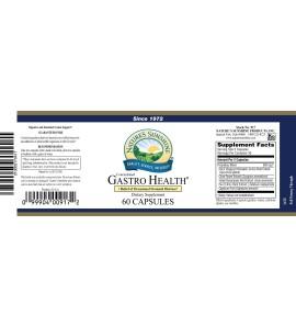 Gastro Health Concentrate (60 Caps) label