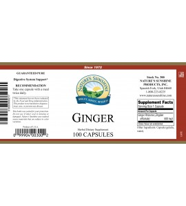 Ginger (100 Caps) label