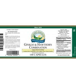 Ginkgo & Hawthorn Combination (100 Caps) label