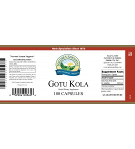 Gotu Kola (100 Caps) label