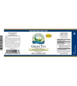 Green Tea Extract (60 Caps) label
