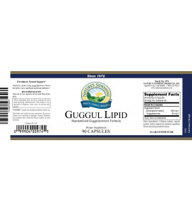 Guggul Lipid Concentrate (90 Caps) label