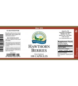 Hawthorn Berries (100 Caps) label