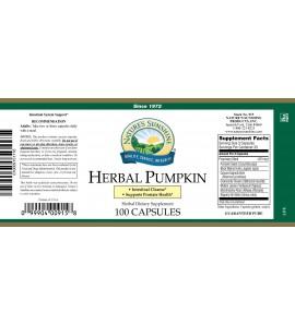 Herbal Pumpkin (100 Caps) label