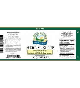 Herbal Sleep (100 Caps) label
