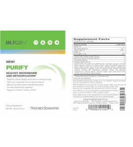 IN.FORM Purify Drink Mix (30 packets) label
