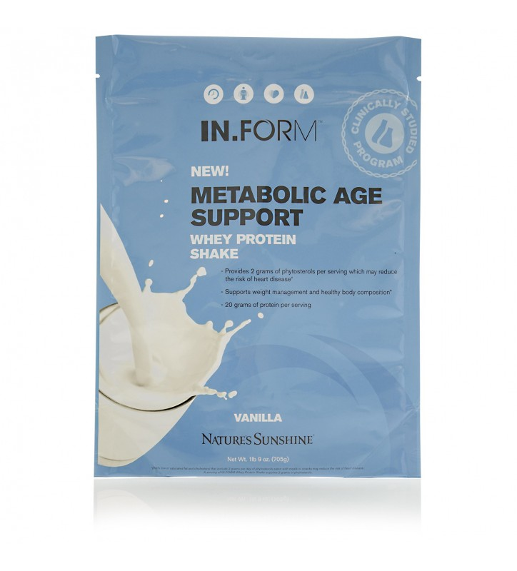 IN.FORM Metabolic Age Support Whey Protein Shake-Vanilla (705 g)