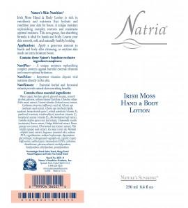 Irish Moss Lotion (8.4 fl. oz.), Natria