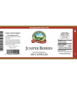 Juniper Berries (100 Caps) label