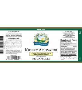 Kidney Activator (100 Caps) label