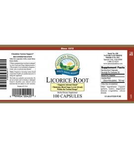 Licorice Root (100 Caps) label