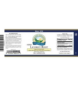 Licorice Root ATC Conc. (50 Caps) label