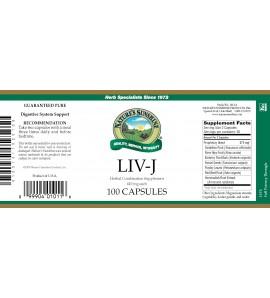 LIV-J (100 Caps) label