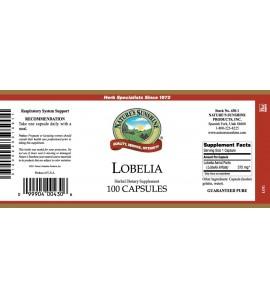 Lobelia (100 Caps) label