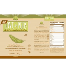 Love And Peas (Sugar Free) (15 Servings) label