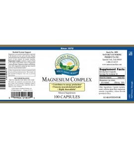 Magnesium Complex (100 Caps) label