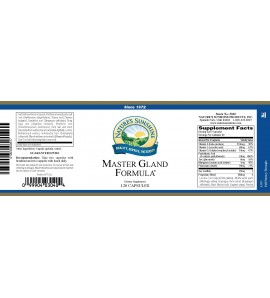 Master Gland® (120 Caps) label