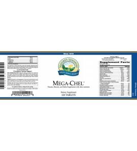 Mega-Chel® (120 Tabs) label