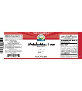 Metabomax Free (120 Capsules) label