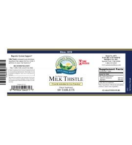 Milk Thistle T/R (60 Tabs) label