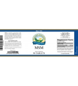 MSM (90 Tabs) label