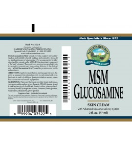 MSM/Glucosamine Cream (2 oz. Tube)