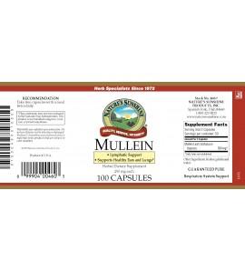 Mullein (100 Caps) label