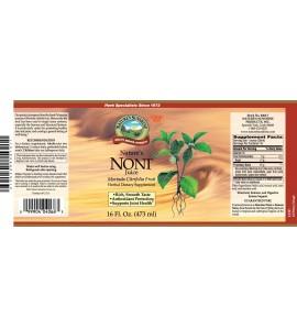 Nature's Noni (16 fl. oz.) label