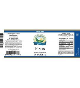 Niacin (250 mg) (90 Tabs) label