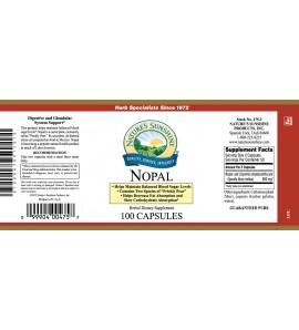 Nopal (100 Caps) label