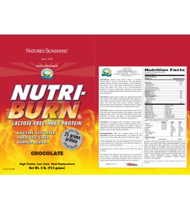 Nutri-Burn® Chocolate (915 g) label